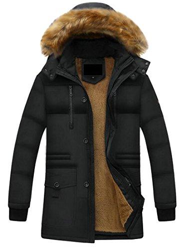 Inverno uk Outwear Maschile Lungo Oggi Piumino Trench Cappuccio Con Eco 1 Di pelliccia qAxSwfprq1
