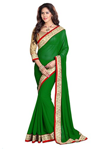 Women's Designer Indian Party wear Saree Green Mirchi Fashion Festive Sari