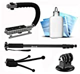 13pcs Sports Cam Accessory Bundle Kit for GoPro Hero 4 Action Camera Includes 72