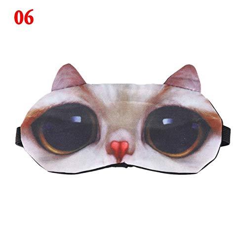 PKRISD Halloween 3D Cartoon Animal Pattern Eye Mask Shade Cover Blindfold Rest Eyepatch 3D Eyepatch Massage Relax ()