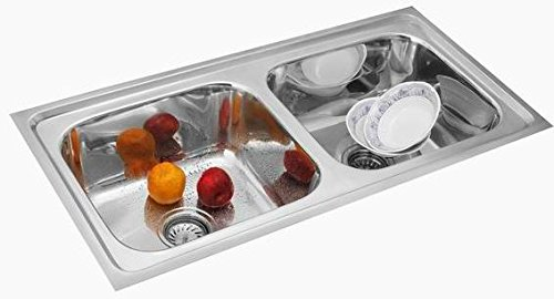 SILVER LINE DOUBLE BOWL KITCHEN SINK: Amazon.in: Home & Kitchen