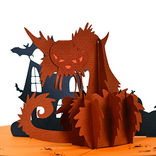 3d Halloween Pics (CutePopup 3D Halloween CAT Trick or Treat Halloween popup Greeting Cards Special Popup Card for)
