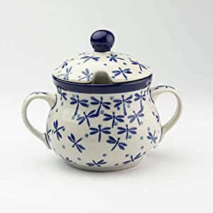 Polish Pottery Sugar Bowl – Dragonfly