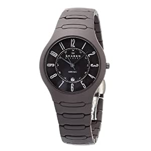 Skagen Men's 817LDXC Brown Ceramic Watch Watch