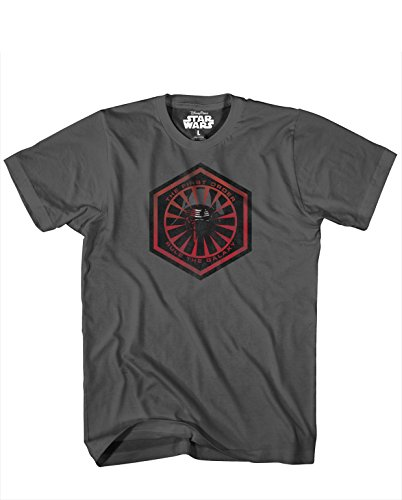 Star Wars Men's Episode VII The New Fear T-Shirt, Charcoal, Large