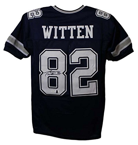 Jason Witten Autographed/Signed Dallas Cowboys Blue Jersey JSA XL - Autographed Dallas Cowboys Jersey Number