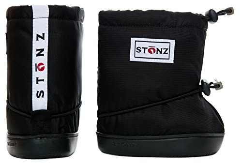 Stonz Three Season STAY-On Baby Booties, For Bare Feet or Shoes, For Mild or Cold Snow Weather, Black Large by Stonz