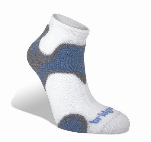 Bridgedale Women's CoolFusion Run Speed Diva Socks, Grey/Blue, Small