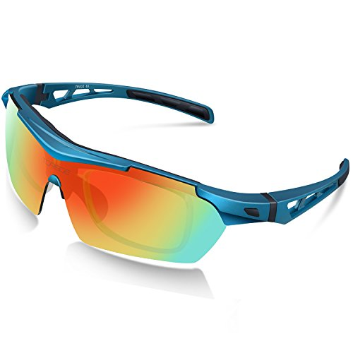 Torege Polarized Sports Sunglasses For Cycling Running Fishing Golf TR90 Unbreakable Frame TR003 - Sunglasses Boys Cool For