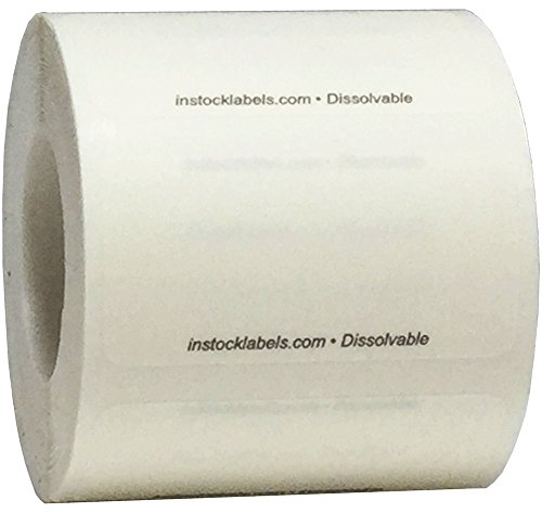 Dissolvable Food Storage Labels Blank Shelf Life For Food Rotation Prep 1 x 2 Inch 500 Adhesive Stickers