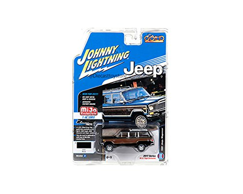 JOHNNY LIGHTNING 1:64 MIJO EXCLUSIVES CLASSIC GOLD 1981 JEEP WAGONEER BLUE DIECAST TOY CAR JLCP7009-24 - Jeep Wagoneer Toy