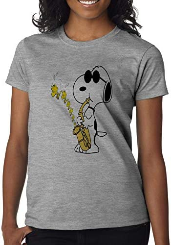 FunnyWear Cartoon Dog Women' s Shirt Custom Made T-Shirt: Odzież