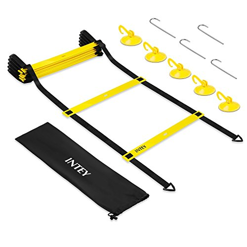 INTEY Agility Ladder Drills Speed Ladder Durable Training Ladders with 5 Suction Cups and Carry Bag