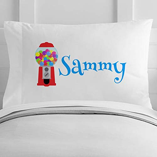 Personalized Gumball Machine Toddler Polyester Pillow Case 12 x 20