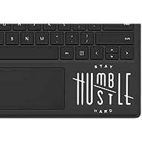 "Stay Humble Hustle Hard Decal Sticker Macbook Ipad Laptop Iphone Car Window (3.3"" inches, White)"