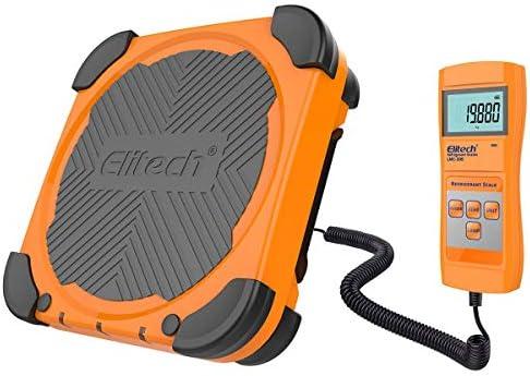 Elitech LMC-200 100KG Electronic Kältemittel skala, Kältemittelwaage mit Tragetasche【1 Jahr Garantie 】