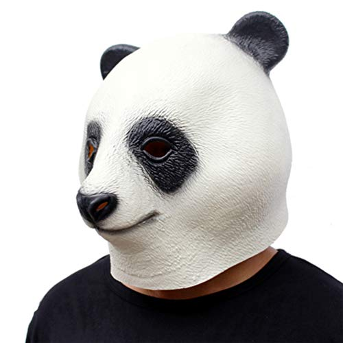 Novelty Funny Halloween Cosplay Costume Masquerade Party Latex Panda Animal Head -