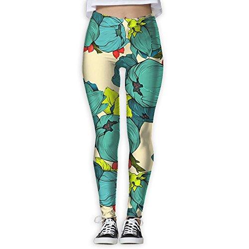 Green Cauliflower Yoga Pants For Womens Petite Length 3D Printing Comfort Waist High Compression Women Pants Yoga Fitness Leggings