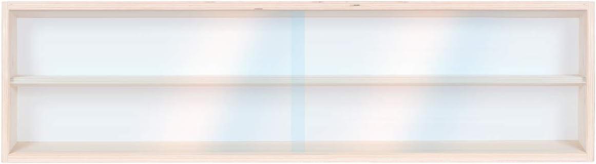 Modellismo 2 Ante plexiglass scorrevoli in Legno di Betulla Non trattato 2 Ripiani Collezionismo 70 x 20 x 8,5 cm Alsino V70.2 Vetrina espositiva Scala N e H0