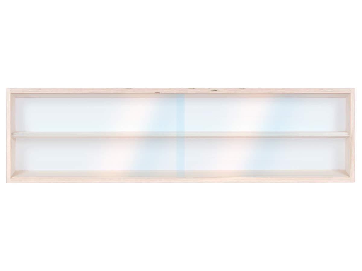 60 x 20 x 8,5 cm in legno di betulla non trattato Alsino V60.2a Vetrina espositiva 2 ripiani 2 ante plexiglass scorrevoli Scala N e H0 Modellismo Collezionismo Con Guide