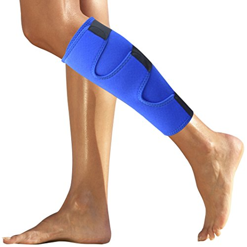Calf Brace - Shin Splint Support for Calf Pain Relief, Strain, Sprain, Shin Splints, Tennis Leg, Calf Injury. Compression Lower Leg Brace for Men and Women. Calf Wrap - Shin Splint Brace / Sleeve