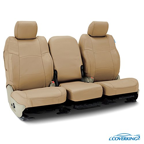 - Coverking Custom Fit Rear 60/40 Bench Seat Cover for Select Ram RAM 2500/3500/Pickup Models - Genuine Leather (Beige)