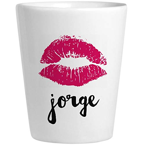 Jorge Birthday Kiss Gift: Ceramic Shot Glass -