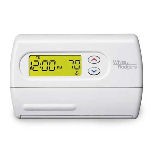 Emerson 1F86-344 Non-Programmable Thermostat for Single-Stage Systems (Rodgers Thermostat And White)