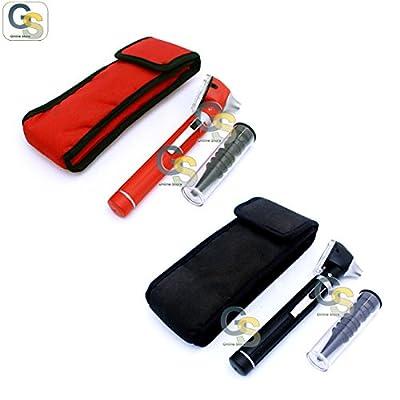 Fiber Optic Mini Otoscope Black + Red Color (diagnostic Set)