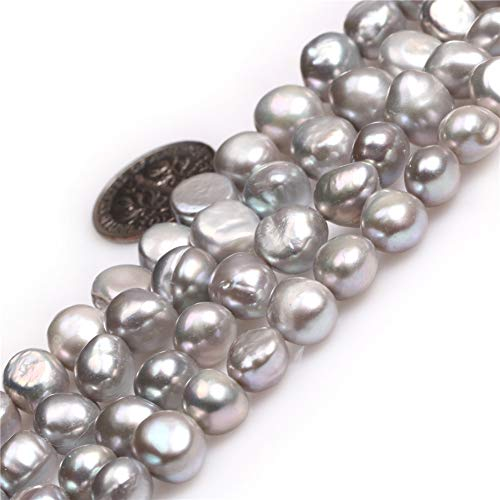 Freeform Freshwater Pearl Beads - Freshwater Cultured Pearl Beads for Jewelry Making Gemstone Semi Precious 7-8mm Freeform Silver 15