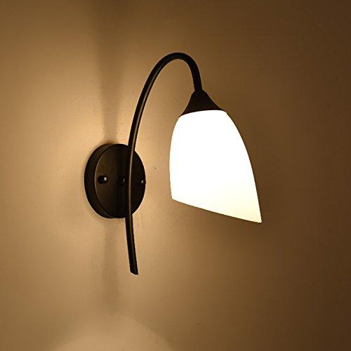 MMYNL moderno E27 Vintage Lámpara de pared para el dormitorio Sala Salón Bar Pasillo Baño Escalera Diámetro de rosa creativo de la cabecera de cama 30CM Hogar y cocina