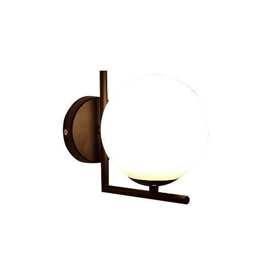 Amazon.com: SH-63088, lámpara de pared de cristal de globo ...