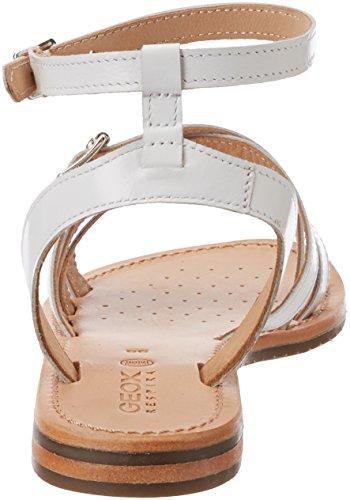 Sandali Cinturino Bianco Caviglia Donna Silver alla B D Geox Sozy con White TqHHwC