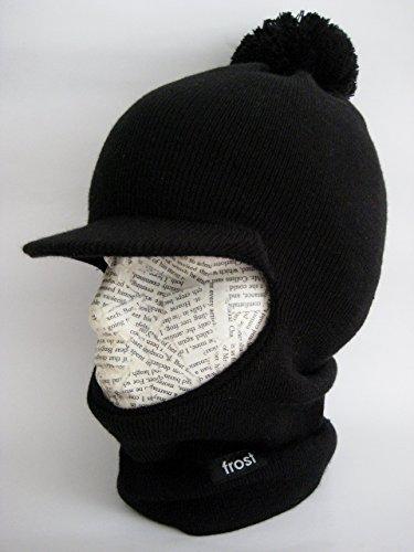 1cab22fd027 Amazon.com  Frost Hats Winter Boy s Hat Balaclava Ski Mask Knit (Black)   Clothing