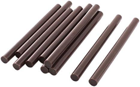 [スポンサー プロダクト]uxcell ホットメルト接着剤 ホットメルトグルースティック ピタガン用スティック 焦茶色 10個入り 7x100mm