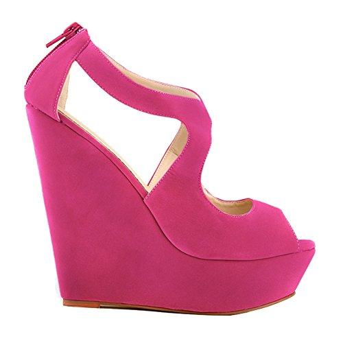 Womens Velvet 391 Rose Strap Sandals High Heel Loslandifen Ankel Platform 2 Ladies FwzWqxR