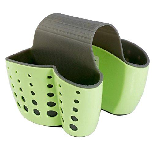 YJYdada New Sponge Holder Sink Caddy Soap Holder For Kitchen Plastic Storage Baskets (Green) (Bathroom Crock Sink)