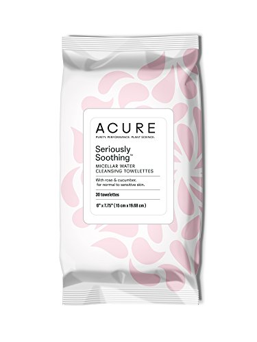ACURE Seriously Soothing Micellar Water Towelettes, 30 Count (Packaging May Vary)