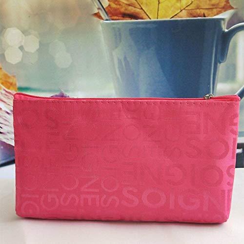 Large Cosmetic Bag Fashion Women Bag Girl Long Purse Messenger Ladies Handbag NC (Color - rose red)