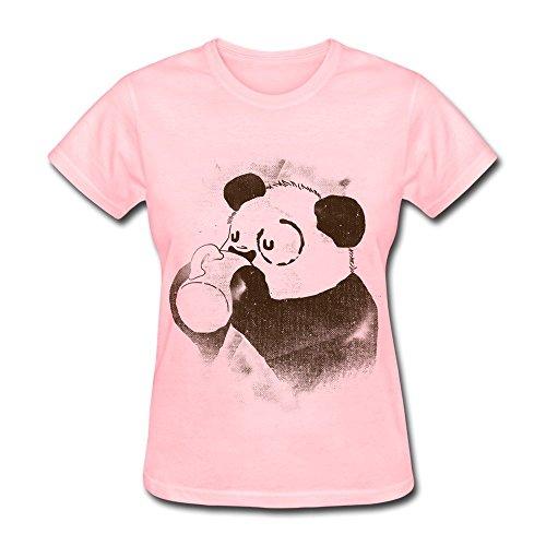 JSFAD Women's Panda Have A Cup Of Coffee T-shirt S