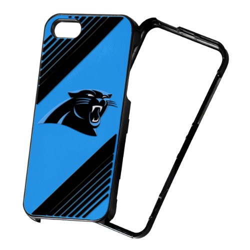 Forever Collectibles NFL 2-Piece Snap-On iPhone 5/5S Polycarbonate Case - Retail Packaging - Carolina Panthers