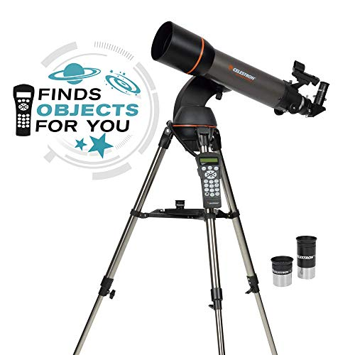 Celestron - NexStar 102SLT Computerized Telescope - Compact and Portable - Refractor Optical Design - SkyAlign Technology - Computerized Hand Control - 102mm Aperture