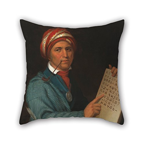 Artistdecor Pillow Cases Of Oil Painting Henry Inman - Sequoyah,for Wife,deck Chair,gf,coffee House,indoor,husband 16 X 16 Inches / 40 By 40 Cm(double Sides)