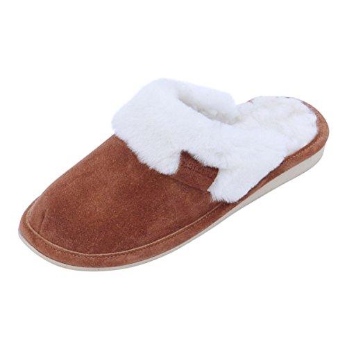 Piel de cordero Zapatillas - MALIBU Mujer Zapatillas Zapatillas de casa gris