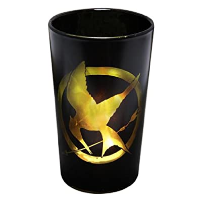 "The Hunger Games Movie Votive Glass Tea Light Shadow Casting ""Glass Mockingjay"": Toys & Games"