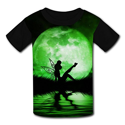 Green Faery Elf T-shirts for Kids Tee Shirt Tops Short Sleeve Costume M