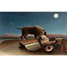 Counted Cross Stitch Patterns: Sleeping Gypsy by Henri Rousseau (Great Artists Series)