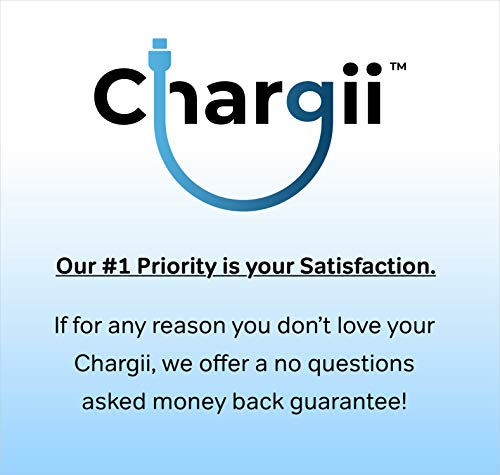 Chargii | Apple Power Bank | All-in-One Portable Charger | Cell Phone Battery Backup | Built-in Wall Plug AC Adapter, Apple & Micro USB Cables | 2 USB Ports | 5000 mAH | White by Chargii (Image #7)