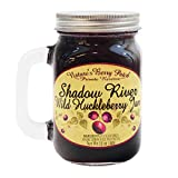 Shadow River Wild Huckleberry Gourmet Berry Jam With Real Fruit Pieces, 13 oz Jar Mug With Handle