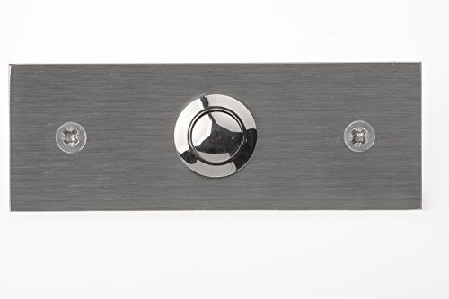 Pulsador de acero inoxidable 12511, 1-, rectangular